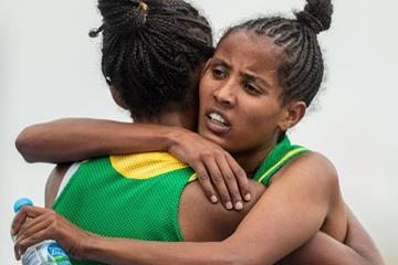 Kalkidan Fentie after winning the 5000m at the IAAF World U20 Championships Bydgoszcz 2016 (Getty Images)