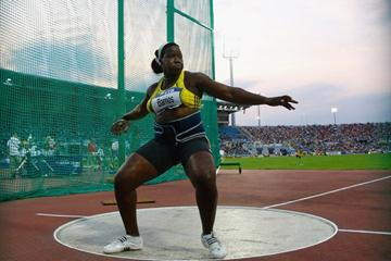 Yarelis Barrios of Cuba dominates the women's Discus competition, setting a competition record of 65.86m (Getty Images)