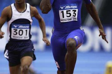 Ronald Pognon of France in action in the men's 60m first round heats (Getty Images)