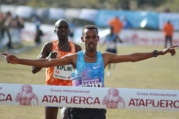 Getaneh Tamire Molla wins at the Cross de Atapuerca (Fundación ANOC)