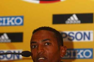 Zersenay Tadesse of Eritrea at Press Conference (Getty Images)