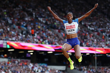 Lorraine Ugen in the long jump at the IAAF World Championships London 2017 (Getty Images)