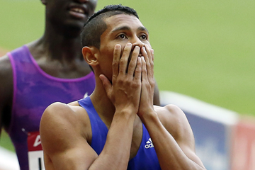 South Africa's Wayde van Niekerk after his victory (Getty Images)