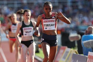 Tsegay Gudaf takes the Stockholm 1500m (Giancarlo Colombo)