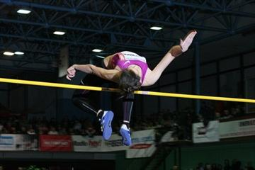 Mariya Kuchina wins the women's high jump in Trinec (LOC Beskydska latka)