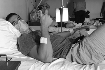 Milan Ristic during his cancer treatment (Milan Ristic)