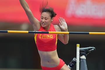 Li Ling at the 2015 Asian Championships (Asian Championships LOC / AAA)