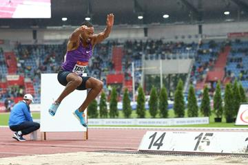 Christian Taylor breaks the triple jump meeting record in Ostrava (Organisers / Luděk Šipla)