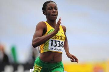 Olivia James of Jamaica during the girls 400m qualification at day one of the WYC Lille 6 July 2011 (Getty Images)