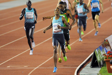 Mohammed Aman wins the 800m in Rabat (AFP / Getty Images)