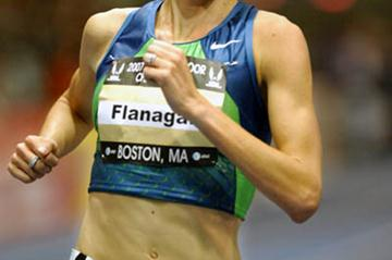 Shalane Flanagan cruises to the US 3000m title in Boston (Kirby Lee)