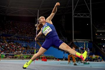Sara Kolak in the Rio 2016 Olympic final (Getty Images)