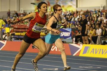Jodie Williams takes the UK indoor 60m title in Sheffield (Getty Images)