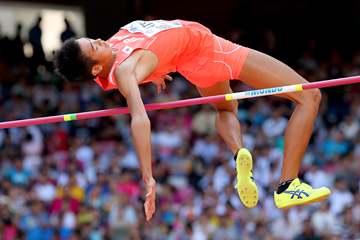 Yuji Hiramatsu in the high jump at the IAAF World Championships Beijing 2015 (Getty Images)