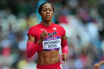 Sanya Richards-Ross in the 400m at the London 2012 Olympic Games (Getty Images)