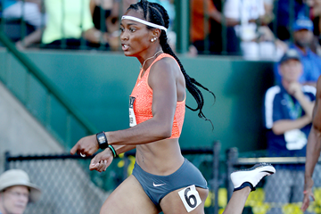 US sprinter English Gardner in action in the 100m (Getty Images)