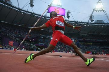 A golden throw for Keshorn Walcott of Trinidad and Tobago who won  the Men's Javelin Throw Final of the London 2012 Olympic Games on August 11, 2012 (Getty Images)