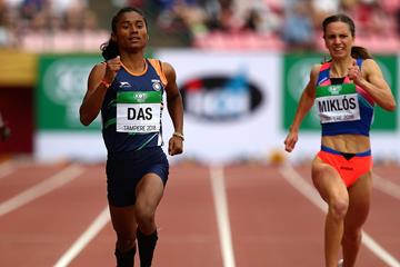 Hima Das in the 400m at the IAAF World U20 Championships Tampere 2018 (Getty Images)