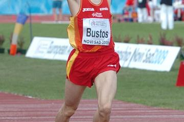 David Bustos taking the European junior 1500m title in Novi Sad (Ayuntamiento de Calvià)