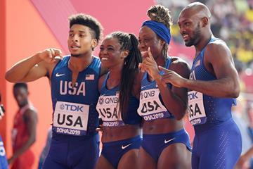 USA's mixed 4x400m team at the IAAF World Athletics Championships Doha 2019 (Getty Images)