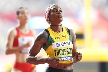 Elaine Thompson at the IAAF World Athletics Championships Doha 2019 (Getty Images)