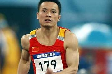 Wen Yongyi of China shown at the 15th Asian Games at Khalifa Stadium in Doha (AFP / Getty Images)