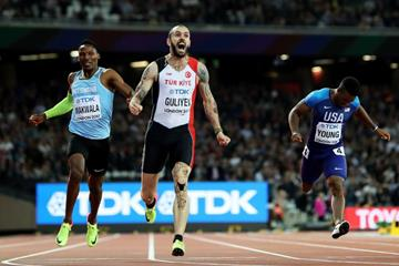 Ramil Guliyev takes the men's 200m title at the IAAF World Championships London 2017 (Getty Images)