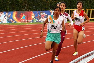 Namita Kabat on her way to Asian Youth Games 800m title in Singapore in 2009 (c)