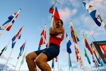 Decathlon winner Jiri Sykora at the IAAF World Junior Championships, Oregon 2014 (Getty Images)