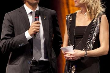 Hicham El Guerrouj and Paula Radcliffe at the 4th Peace and Sport International Forum (Philippe Fitte)