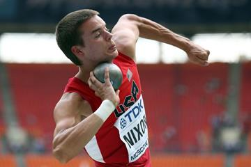 Gunnar Nixon in the men's Decathlon Shot Put at the IAAF World Athletics Championships Moscow 2013 (Getty Images)