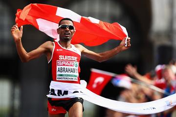 Tadesse Abraham wins the European half marathon title in Amsterdam  (Getty Images)