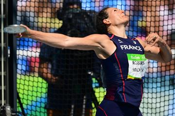 Melina Robert-Michon at the Rio 2016 Olympic Games (AFP / Getty Images)