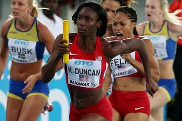 USA in the 4x100m at the IAAF/BTC World Relays, Bahamas 2015 (Getty Images)