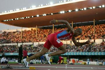 The start of Felix Sanchez in the 400m Hurdles semi-finals (Getty Images)