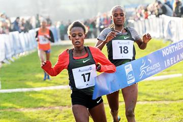 Meskerem Mamo takes a narrow victory in Dundonald (Mark Shearman)