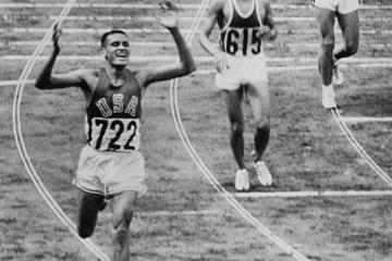 Billy Mills wins the 10,000m at the 1964 Olympics (AFP / Getty Images)