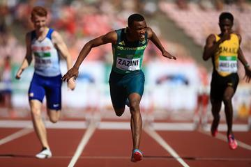 Sokwakhana Zazini wins the 400m hurdles at the IAAF World U20 Championships Tampere 2018 (Getty Images)