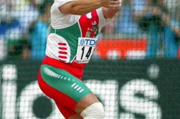 Ivan Tikhon of Belarus wins the men's hammer throw (Getty Images)