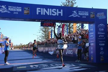 Kenneth Mungara wins the Gold Coast Marathon (Organisers)