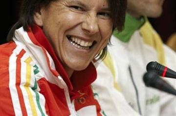 Susana Feitor of Portugal during the Press Conference (Getty Images)