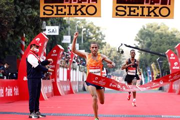 Amedework Walelegn clocks course record at Airtel Delhi Half Marathon (Procam International)