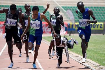 Ng'eno Kipng'etich (081) takes the 800m title at the Kenyan World Championships trials (AFP/Getty Images)