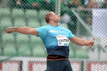 Gerd Kanter at the 2013 IAAF Diamond League meeting in Oslo (Jiro Mochizuki)