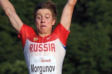 Sergey Morgunov sailing to the 2011 European Junior title in Tallinn (Mark Shearman)