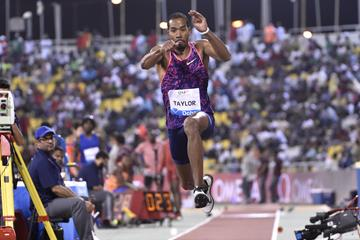 Christian Taylor leaps to victory at the 2017 Doha Diamond League (organisers)