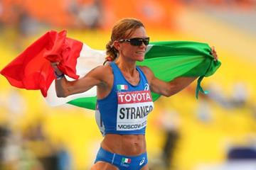 Valeria Straneo in the women's Marathon at the IAAF World Athletics Championships Moscow 2013 (Getty Images)