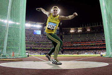 Dani Stevens in the discus at the 2006 Commonwealth Games in Melbourne (Getty Images)