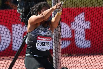 Hammer winner Camryn Rogers at the IAAF World U20 Championships Tampere 2018 (Getty Images)