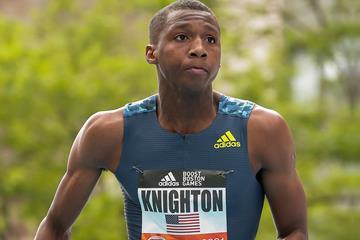 US sprinter Erriyon Knighton (Kevin Morris)